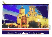 San Xavier Mission Postcard #1  With Lettering No Date-2013  Carry-all Pouch