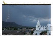 San Xavier Mission With Lightning Carry-all Pouch