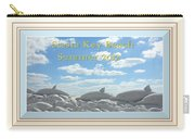 Sand Dolphins - Digitally Framed Carry-all Pouch