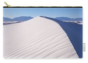 Sand Dunes In A Desert, White Sands Carry-all Pouch