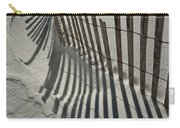 Sand Fence During Winter On The Beach Carry-all Pouch