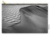 Sand Pattern Abstract - 2 - Black And White Carry-all Pouch