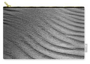 Sand Pattern Abstract - 3 - Black And White Carry-all Pouch