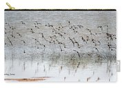 Sand Pipers In Flight Carry-all Pouch