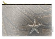Sand Prints And Starfish II Carry-all Pouch