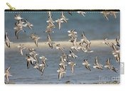 Sanderlings And Dunlins In Flight Carry-all Pouch