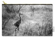 Sandhill Chick In The Marsh - Black And White Carry-all Pouch