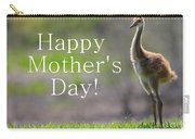 Sandhill Chick Mother's Day Card Carry-all Pouch