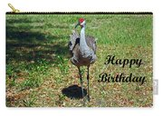 Sandhill Crane Birthday Carry-all Pouch