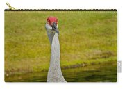 Sandhill Crane Face-on Carry-all Pouch