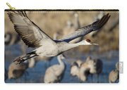 Sandhill Crane Lift Off Carry-all Pouch