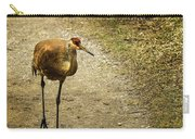 Sandhill Crane On The Road Carry-all Pouch