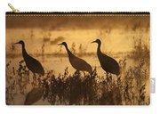 Sandhill Crane Trio At Sunrise Bosque Carry-all Pouch