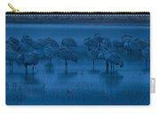 Sandhill Cranes In The Dark Bosque Del Apache Wildlife Refuge  Carry-all Pouch