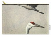 Sandhill Cranes Carry-all Pouch by James W Johnson