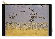 Sandhill Cranes On The Ground Carry-all Pouch