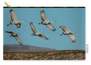 Sandhill Cranes Over Chupadera Mountains Carry-all Pouch