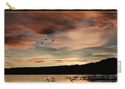 Sandhill Cranes Roosting At Sunset Carry-all Pouch
