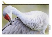 Sandhill Preening In Green Carry-all Pouch