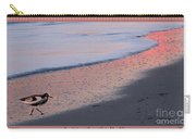Sandpiper At Sunset Print Carry-all Pouch