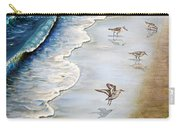 Sandpipers On The Beach Carry-all Pouch
