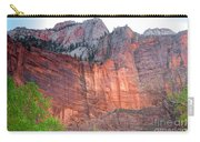 Sandstone Wall In Zion Carry-all Pouch by Robert Bales