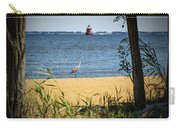 Sandy Pt Shoal Lighthouse And Blue Heron Carry-all Pouch
