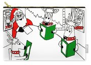 Santa And Reindeer Conference Carry-all Pouch