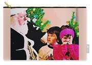 Santa And The Kids Carry-all Pouch