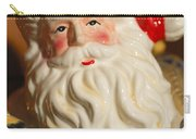 Santa Claus - Antique Ornament - 19 Carry-all Pouch by Jill Reger