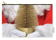 Santa Claus Holding Christmas Tree Carry-all Pouch