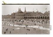 Santa Cruz Beach From Pleasure Pier  California Circa 1908 Carry-all Pouch