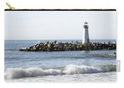 Santa Cruz Lighthouse Wave Wide Carry-all Pouch by Barbara Snyder