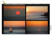 Santa Cruz Sunset  Carry-all Pouch by AJ  Schibig