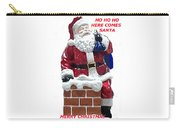 Santa Greeting Card Carry-all Pouch
