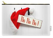 Santa Hat And Sign Carry-all Pouch
