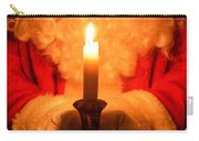 Santa Holding Candle Carry-all Pouch by Amanda Elwell