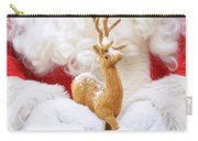 Santa Holding Reindeer Figure Carry-all Pouch