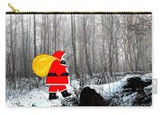 Santa In Christmas Woodlands Carry-all Pouch