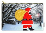 Santa In Winter Wonderland Carry-all Pouch