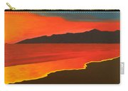 Santa Monica Beach And Mountains Carry-all Pouch
