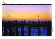 Santa Monica Pier Sunset Silhouettes Carry-all Pouch