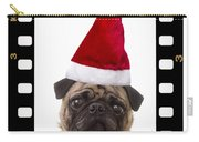 Santa Pug - Canine Christmas Carry-all Pouch by Edward Fielding