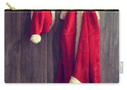Santa's Hat And Coat Carry-all Pouch