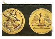 Santee Sioux Tribe Code Talkers Bronze Medal Art Carry-all Pouch