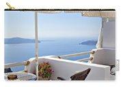 Santorini Balcony  Carry-all Pouch