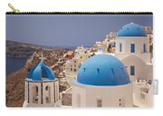 Santorini Blue Domes Carry-all Pouch