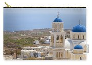 Santorini Church Overlooking The Sea Carry-all Pouch