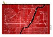 Saskatoon Street Map - Saskatoon Canada Road Map Art On Color Carry-all Pouch