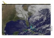Satellite View Of A Noreaster Storm Carry-all Pouch
